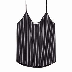 NWOT Aritzia Everly Camisole Babaton Black Stripe